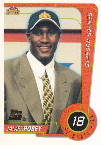 1998-99 topps draft pick rookie james posey nuggets