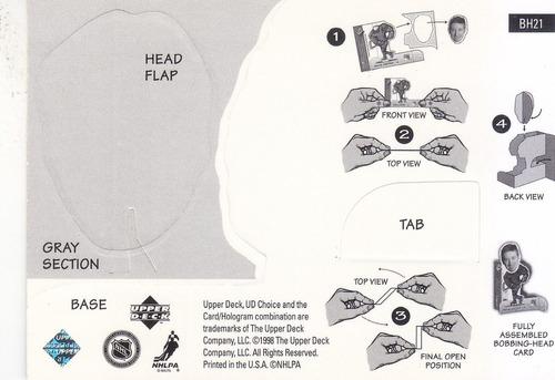 1998-99 ud choice bobbing head patrick roy avalanche