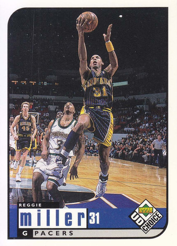 1998-99 ud choice reggie miller pacers