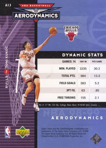 1998-99 upper deck aerodynamics toni kukoc bulls