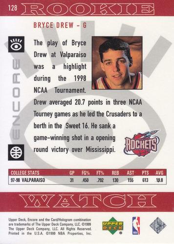 1998-99 upper deck encore rookie bryce drew rockets