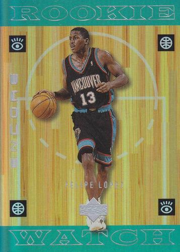 1998-99 upper deck encore rookie felipe lopez grizzlies