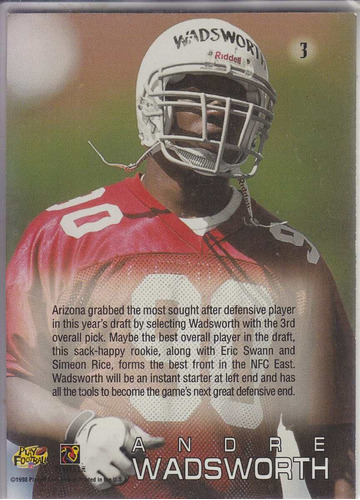 1998 absolute ssd draft pick rookie andre wadsworth cards
