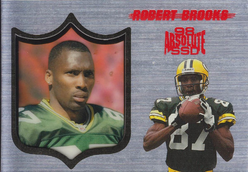 1998 absolute ssd silver robert brooks wr packers