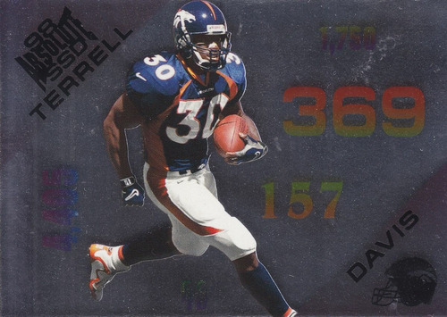 1998 absolute ssd statistically terrell davis rb broncos