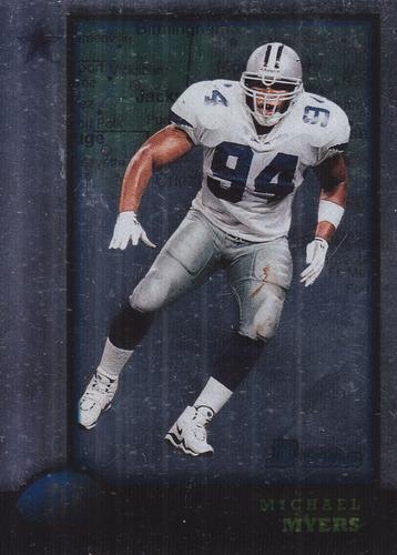 1998 bowman interstate rookie michael myers de cowboys