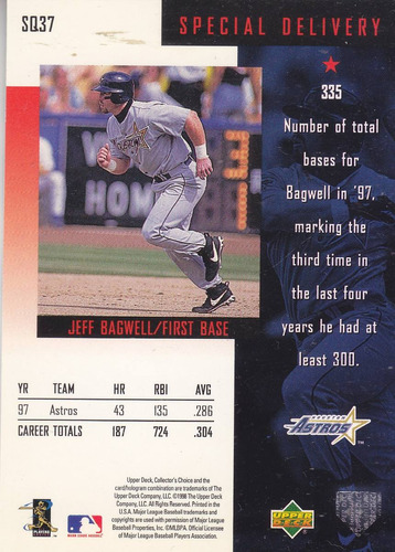 1998 collector's choice starquest jeff bagwell 1b astros