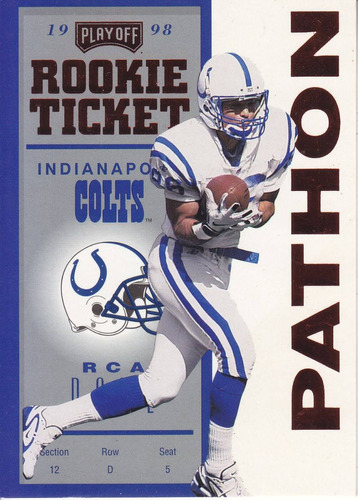 1998 contenders red rookie ticket jerome pathon colts