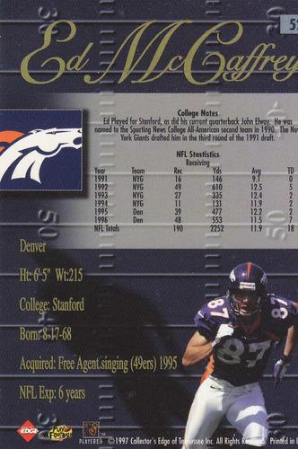 1998 edge advantage thick ed mccaffrey wr broncos