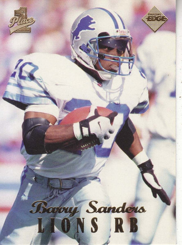 1998 edge first place barry sanders rb lions