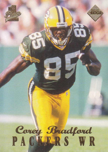 1998 edge first place rookie corey bradford wr packers