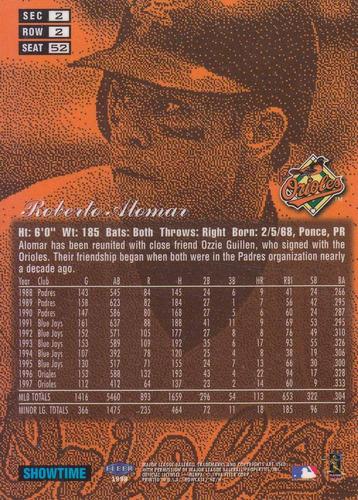 1998 flair showcase row 2 roberto alomar orioles