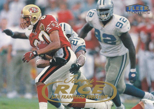 1998 fleer tradition jerry rice wr 49ers