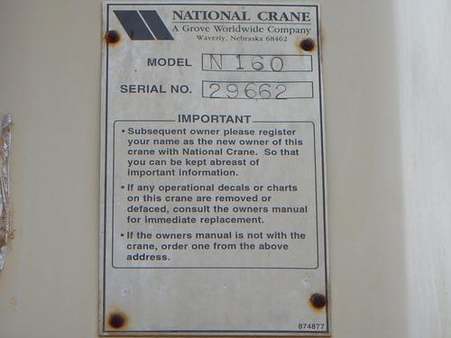 1998 gmc 8500 con grua national n160 gm106845