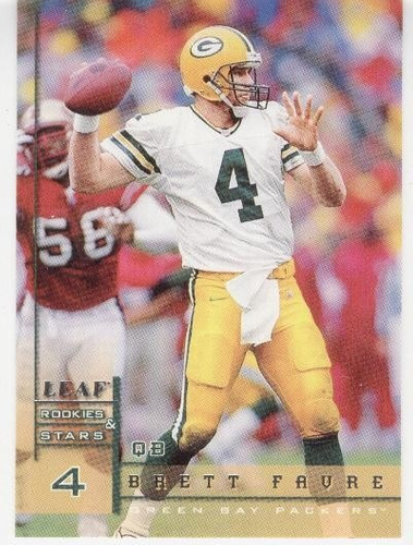 1998 leaf rookies & stars brett favre green bay packers qb
