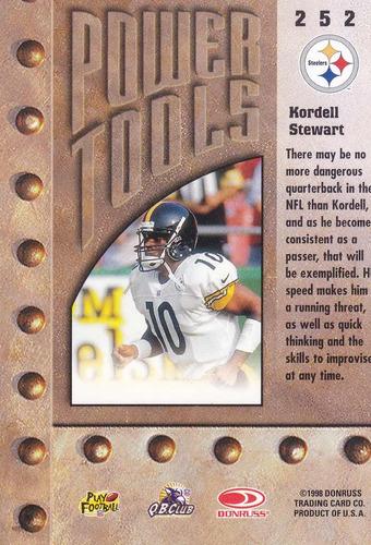 1998 leaf rookies & stars power tools kordell stewart steels
