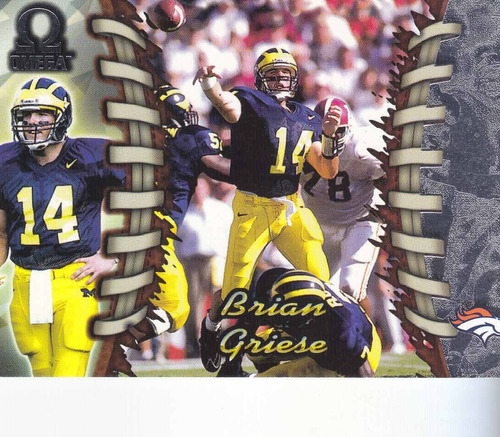 1998 pacific omega rookie brian griese qb broncos