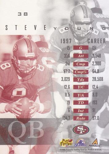 1998 pinnacle mint steve young qb 49ers