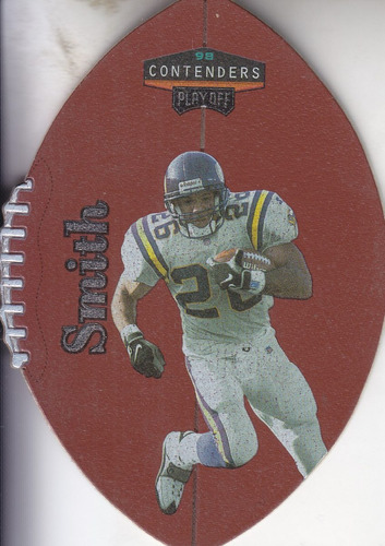 1998 playoff contenders leather robert smith rb vikings