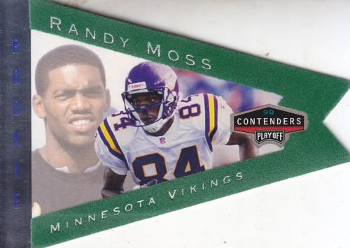 1998 playoff contenders pennants green felt rc randy moss wr