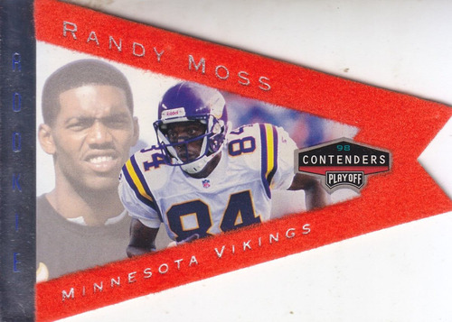 1998 playoff contenders pennants orange felt rc randy moss