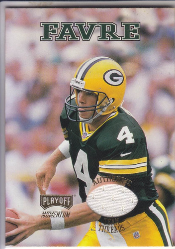 1998 playoff momentum team threads away jersey brett favre
