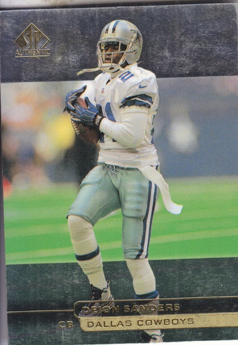 1998 sp authentic deion sanders cb cowboys