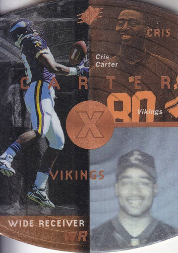 1998 spx bronze cris carter wr vikings