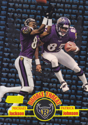 1998 stadium club double threat michael jackson p johnson