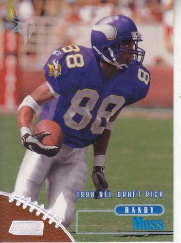 1998 stadium club rookie randy moss wr vikings