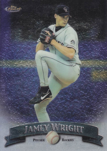 1998 topps finest no protector jamey wright p rockies