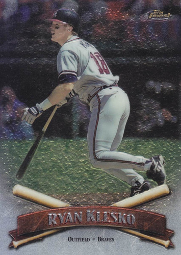 1998 topps finest no protector ryan klesko of braves
