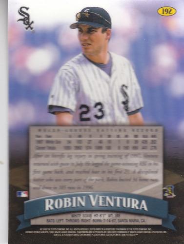 1998 topps finest robin ventura tb white sox