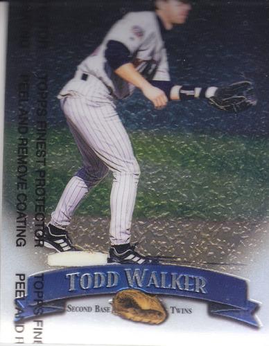 1998 topps finest todd walker sb twins