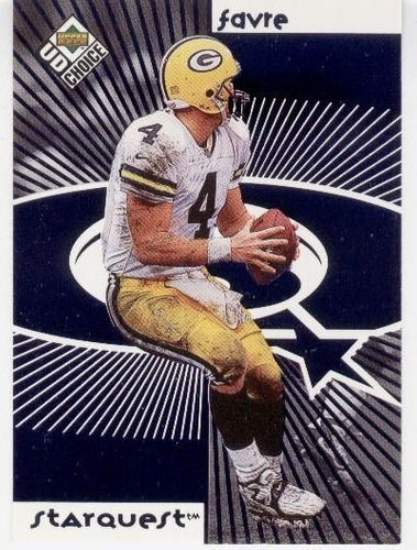 1998 ud starquest / rockquest brett favre - holiday packers