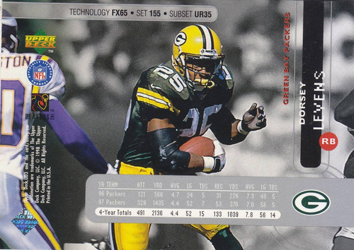 1998 ud3 ur fx silver dorsey levens rb packers