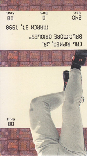 1998 ultra ticket studs cal ripken jr. orioles