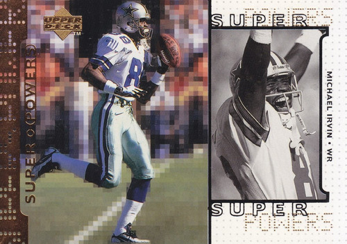 1998 upper deck super powers michael irvin wr cowboys