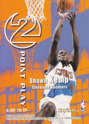 1999-00 skybox dominion 2 point play chris webber shawn kemp