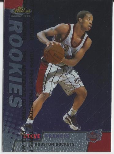 1999-00 topps finest rookies steve francis rc /2000 rockets