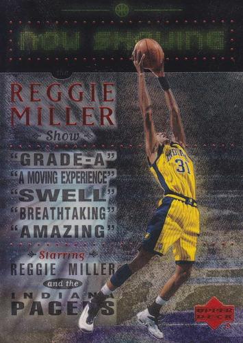 1999-00 upper deck now showing reggie miller pacers