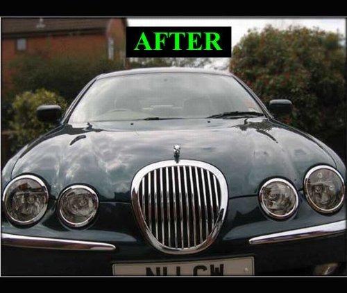 1999 2006 Jaguar S Type Tipo S Chrome Grill Grelha Kit 2000