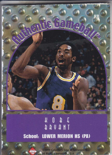 1999 collector's edge gameball kobe bryant lakers