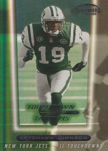 1999 contenders ssd td tandems k johnson curtis martin jets