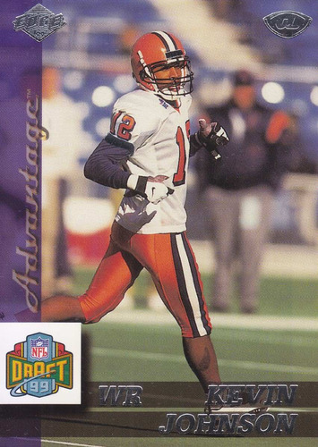 1999 edge advantage rookie kevin johnson wr browns