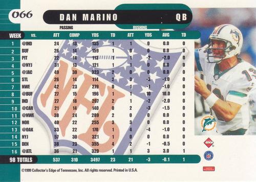 1999 edge supreme dan marino qb dolphins