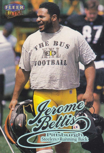 1999 fleer ultra jerome bettis rb steelers