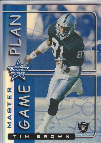 1999 leaf r & s master game plan tim brown wr raiders 21/50