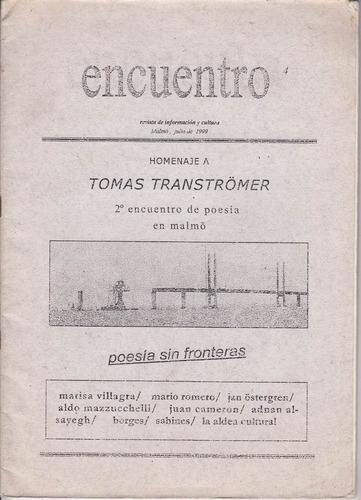 1999 poesia revista encuentro homenaje transtromer suecia
