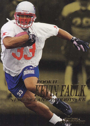 1999 skybox dominion rookie kevin faulk rb patriots